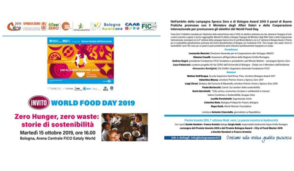 15 ottobre 2019 – World food day 2019